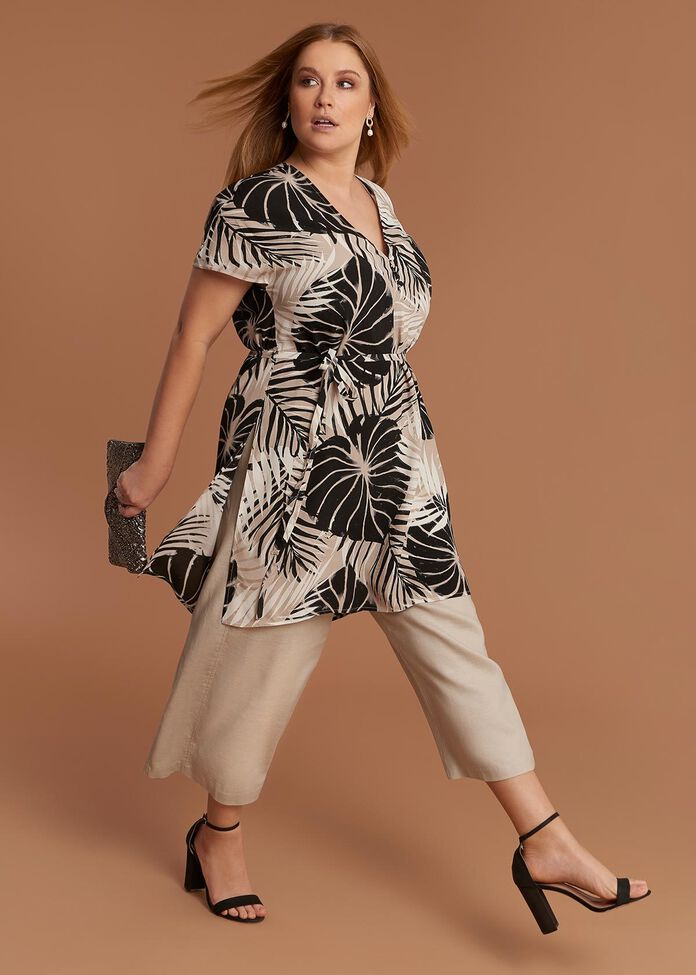 Palm Print Tunic, , hi-res