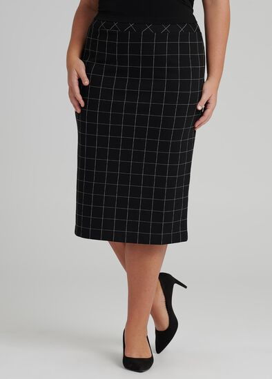 Checkmate Pencil Skirt