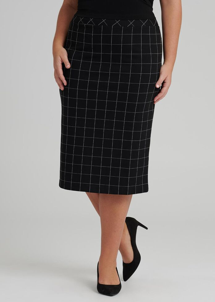 Checkmate Pencil Skirt, , hi-res