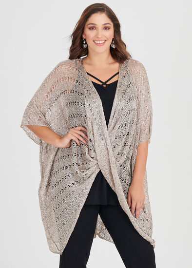 Sunset Twist Front Poncho