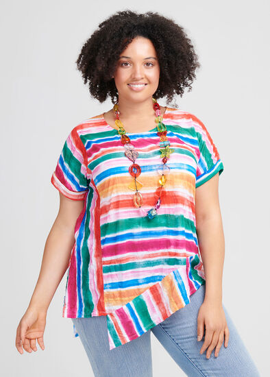 Tropical Stripe Top