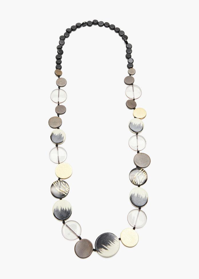 Wooden Jungle Bead Necklace, , hi-res