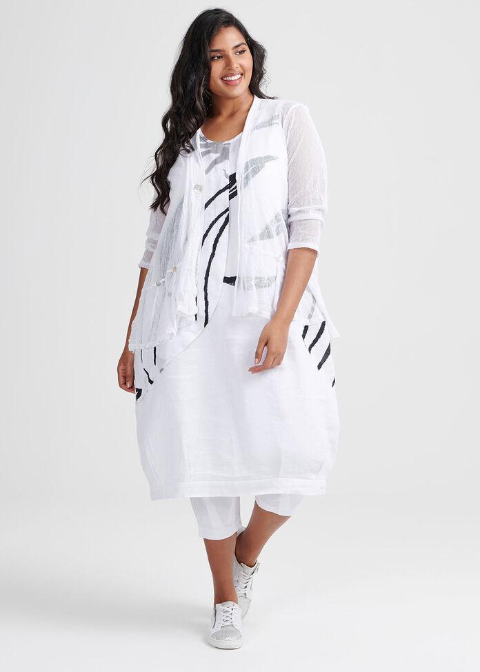Linen Botanic Dress, , hi-res