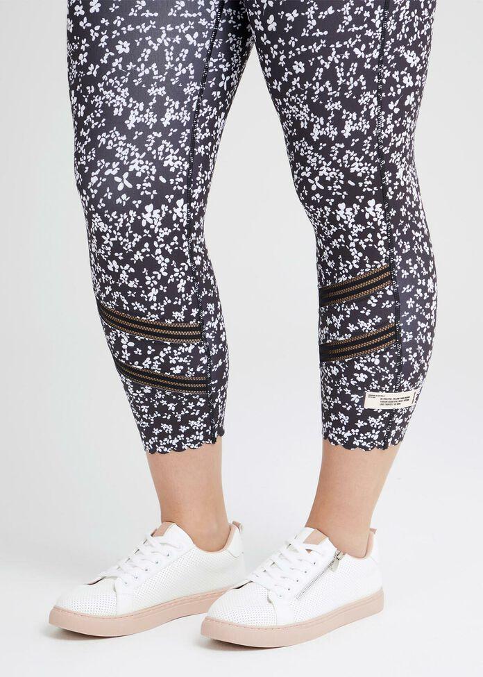 Ditsy Crop Active Legging, , hi-res