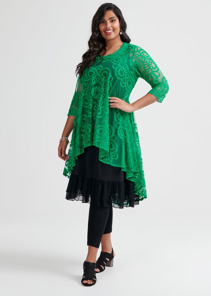 Green With Envy Tunic, , hi-res