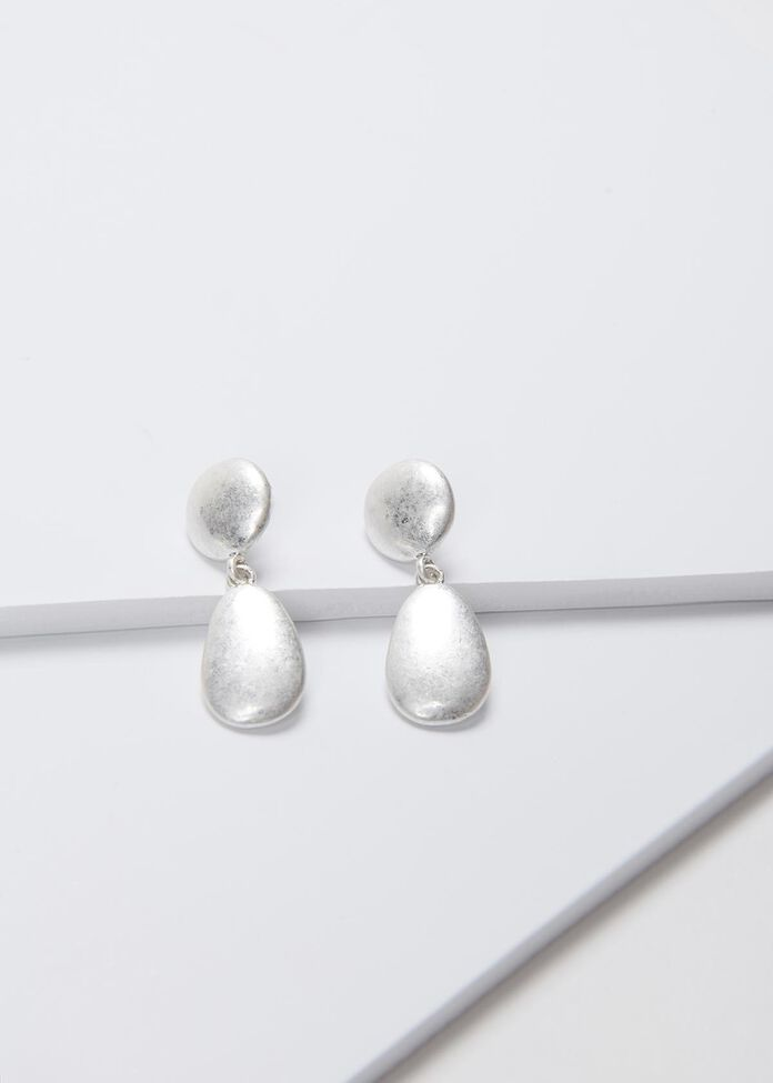 Frosted Drop Earrings, , hi-res