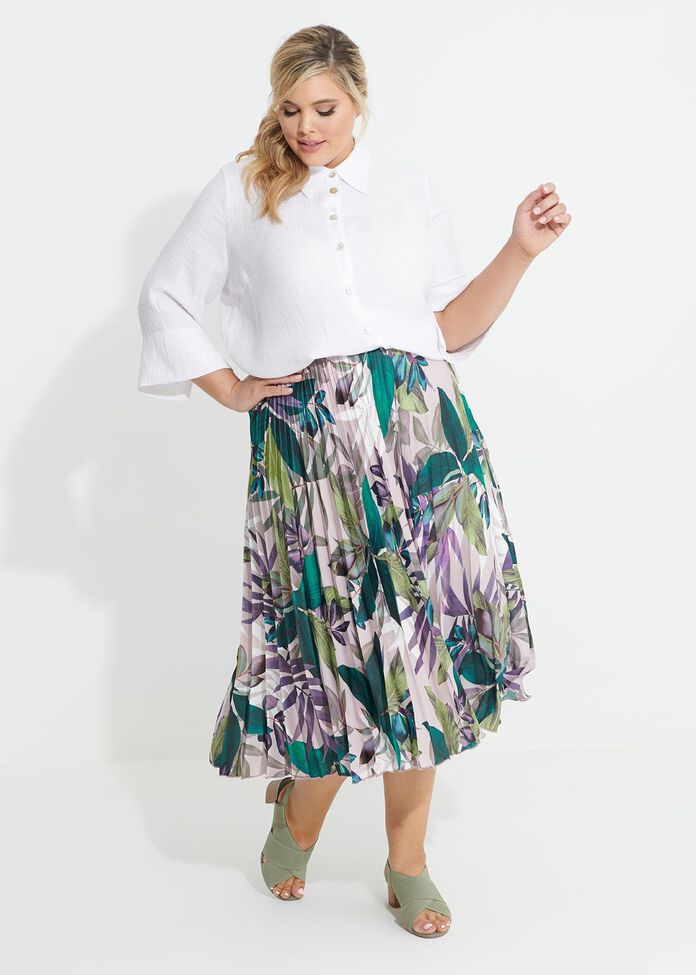 Deja Vu Pleat Skirt, , hi-res