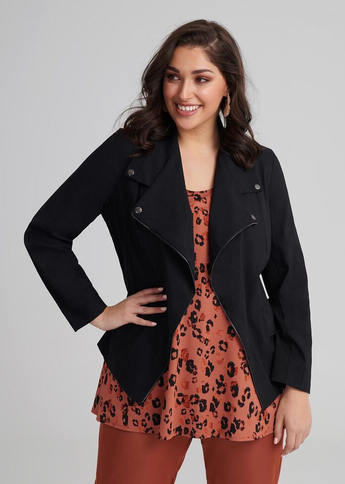 Tencel Trapeze Jacket, , hi-res