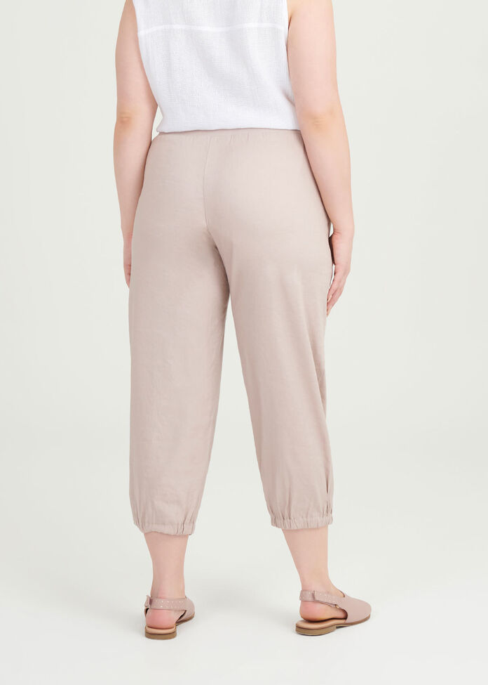 Easy Linen Crop Pant, , hi-res