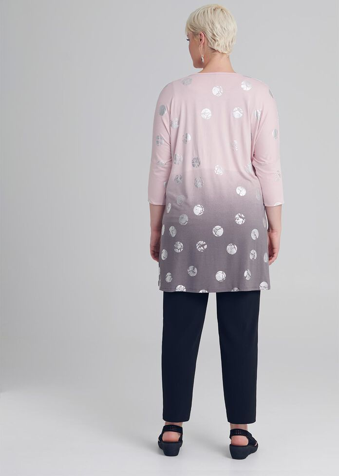 Rose All Day Foil Tunic, , hi-res