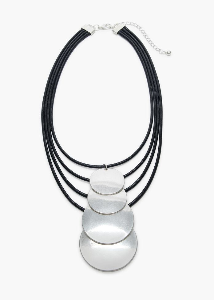 Layered Disc Necklace, , hi-res