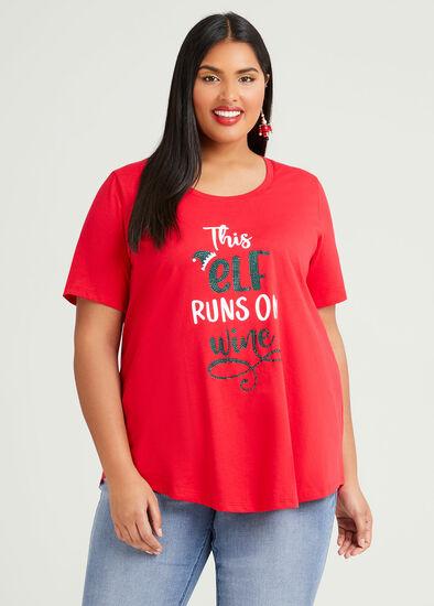 Organic Elf Xmas T-shirt