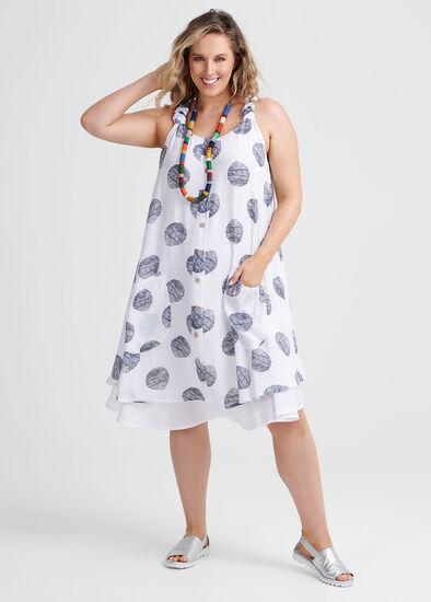 Textured Spot Dress