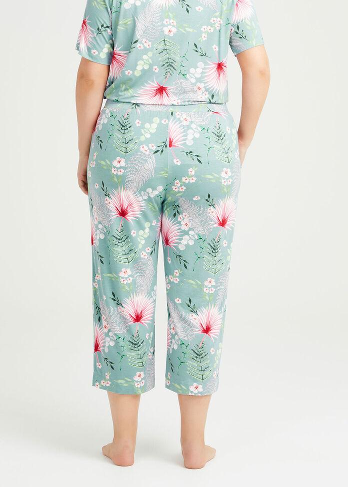 Bamboo Garden Pyjama 3/4 Pant, , hi-res