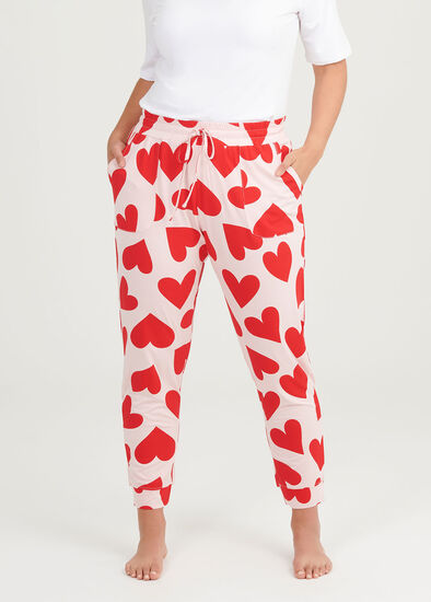 Bamboo Red Hearts Pant