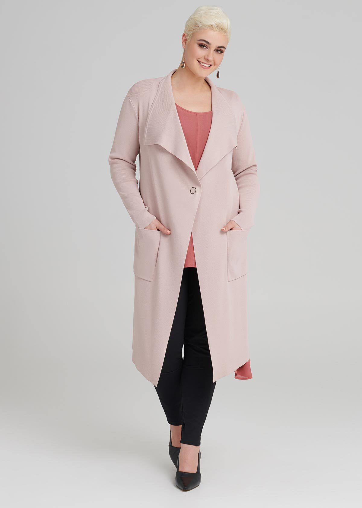 My Perfect Camel Plus Size Wrap Coat (Style Journey