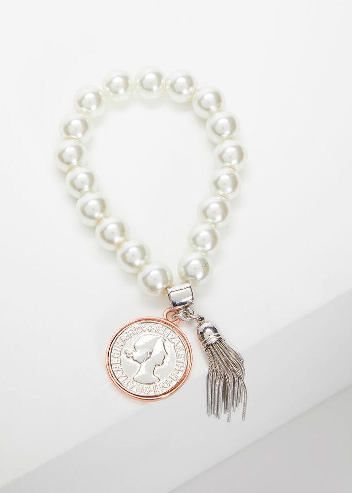 Pearl Tassel Bracelet, , hi-res