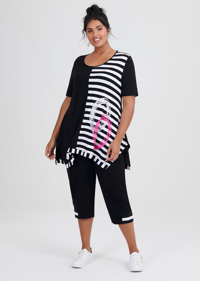 Get In Line Stripe Tunic, , hi-res