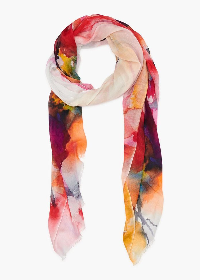 Colour The Water Scarf, , hi-res