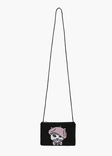 Cat Beaded Bag