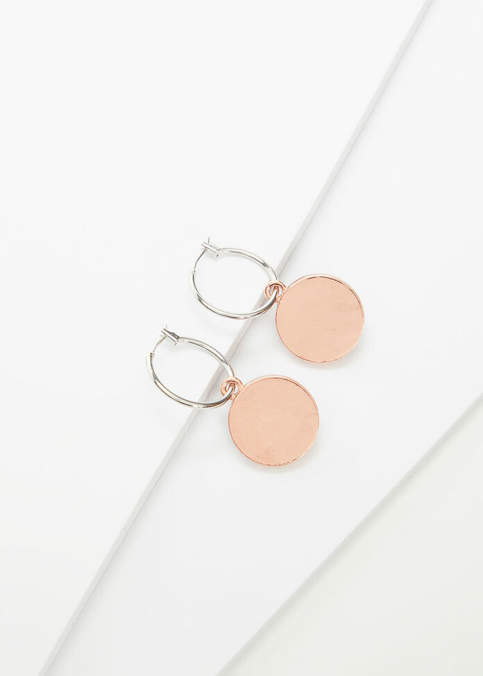 Reversible Coin Earrings, , hi-res
