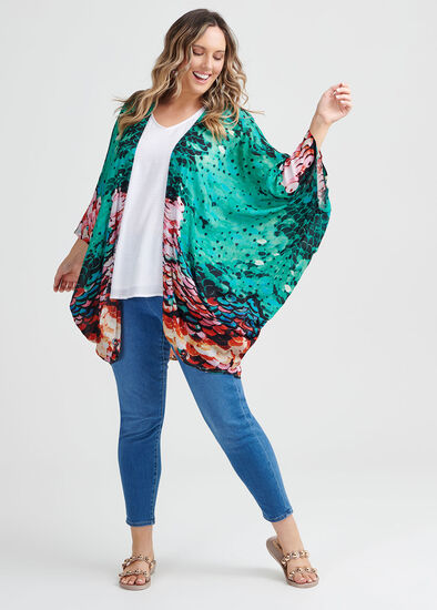 Sequin Print Shrug