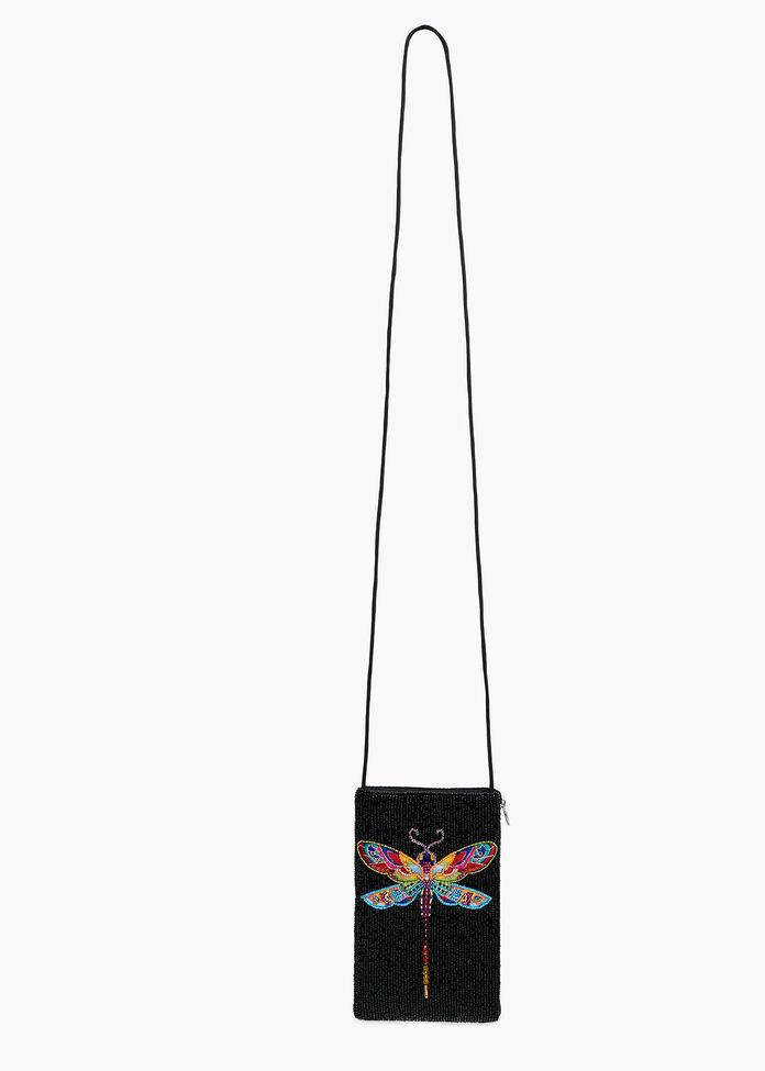 Dragonfly Beaded Bag, , hi-res