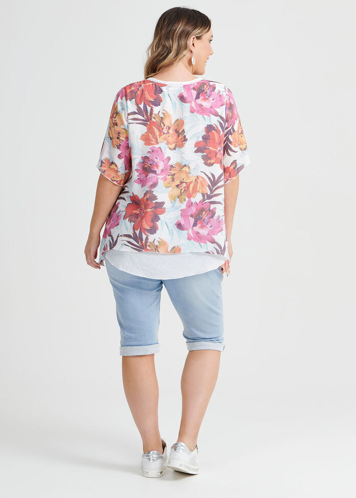 Floral Burst Top, , hi-res