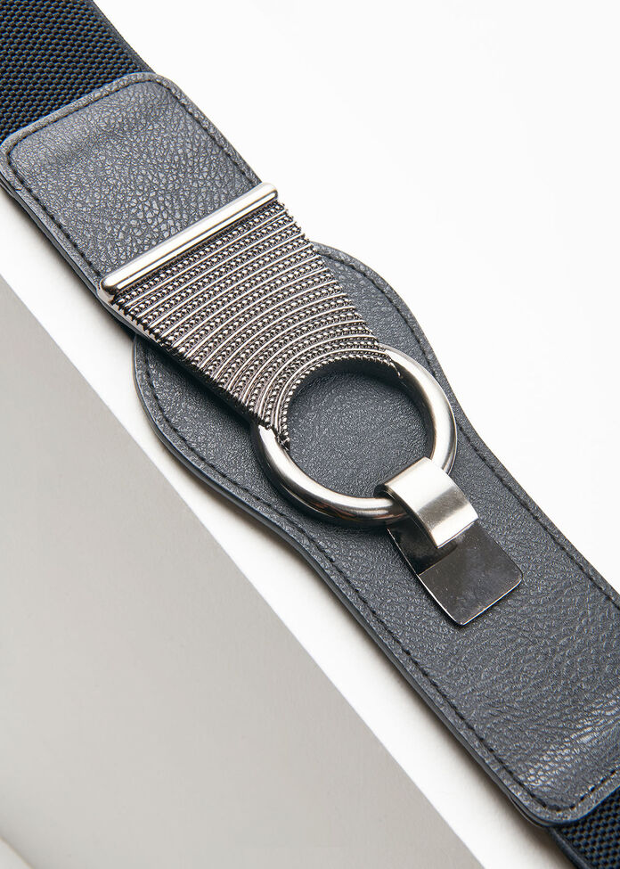 Black Stretch Belt, , hi-res