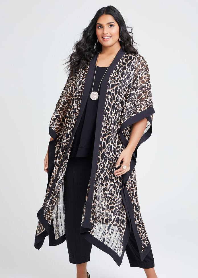 Great Escape Animal Kimono, , hi-res