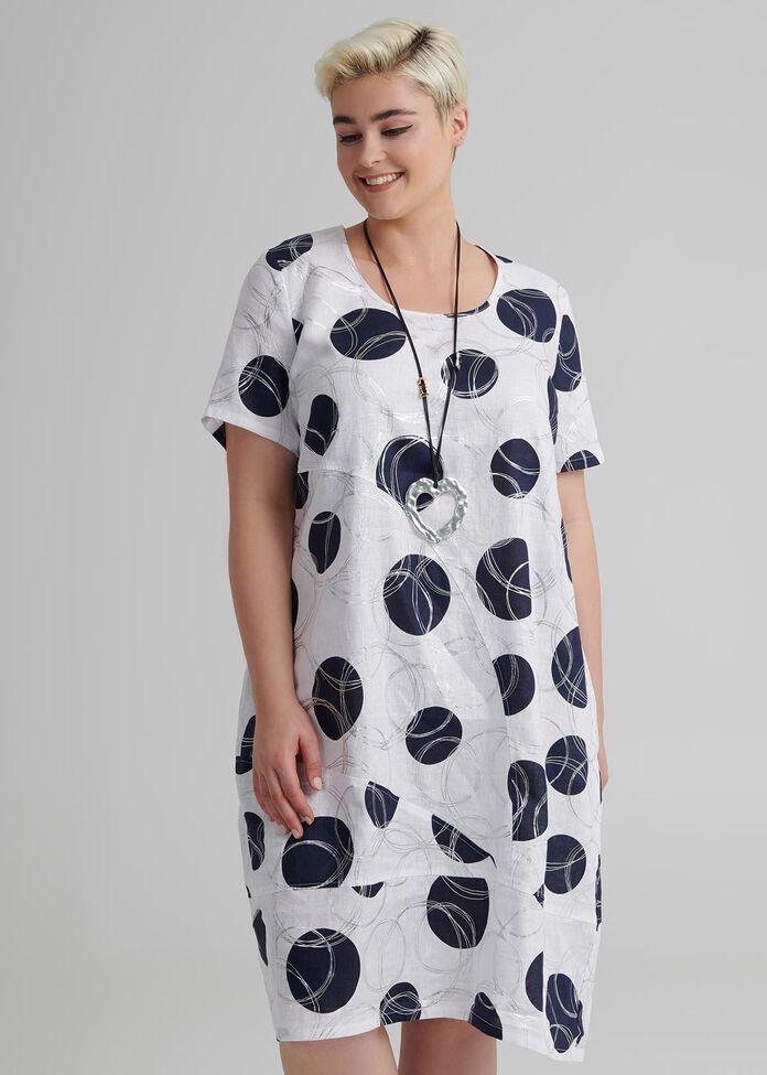 Linen Blue Hue Dress, , hi-res