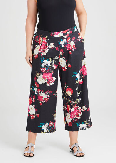 Wild Rose Linen Wide Pant