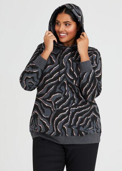 Zebra Foil Hoodie