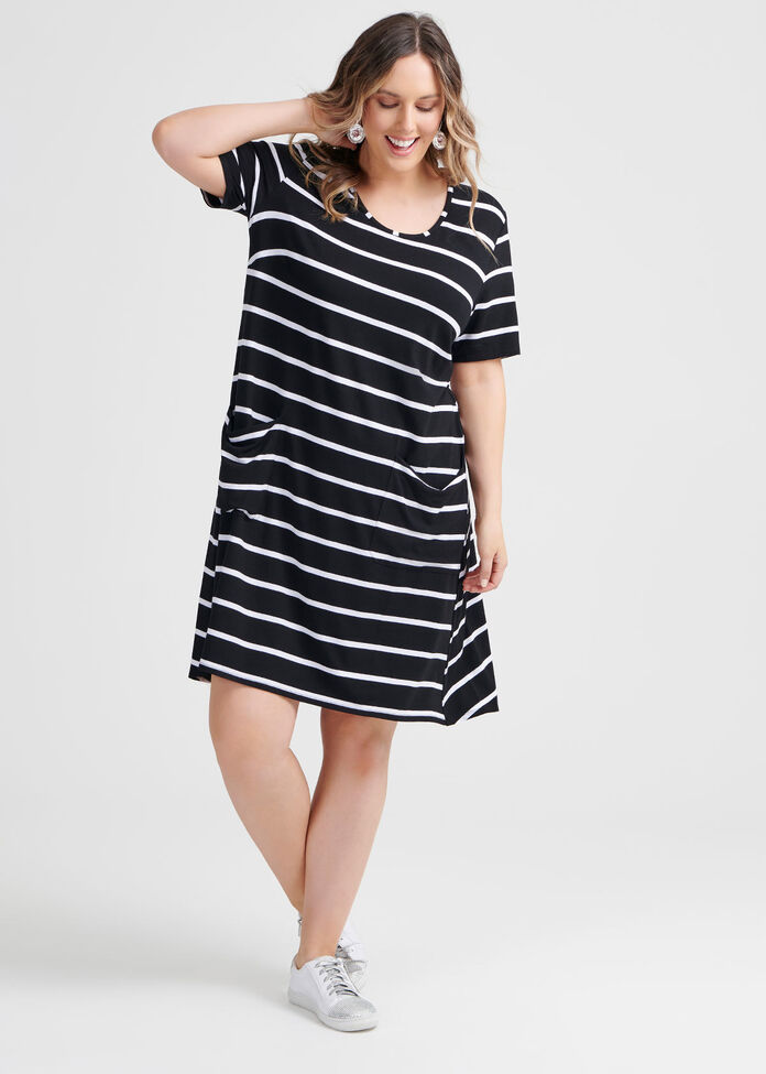 Beaucoup Stripe Dress, , hi-res