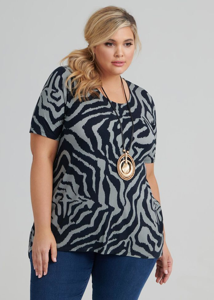 Zebra Stripes Top, , hi-res