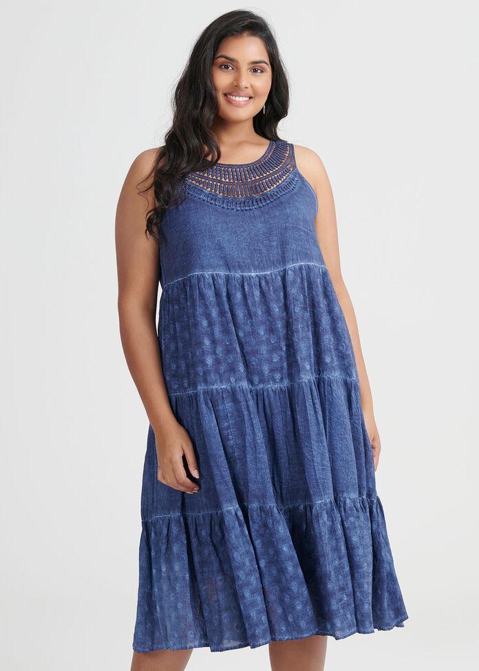 Cotton Vintage Wash Dress, , hi-res