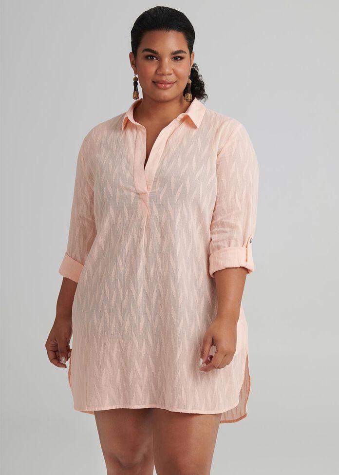 Sunset Shirt Coverup, , hi-res