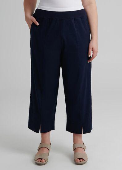 Linen Oasis Crop Pant