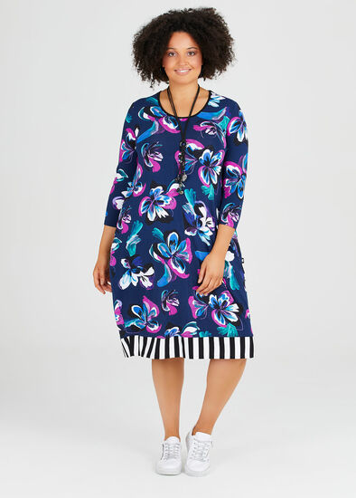 Blooms Of Blue Dress