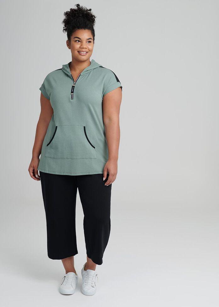 Moda Active Zip Top, , hi-res