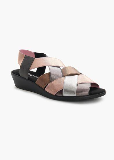 Abby Elastic Weave Sandal