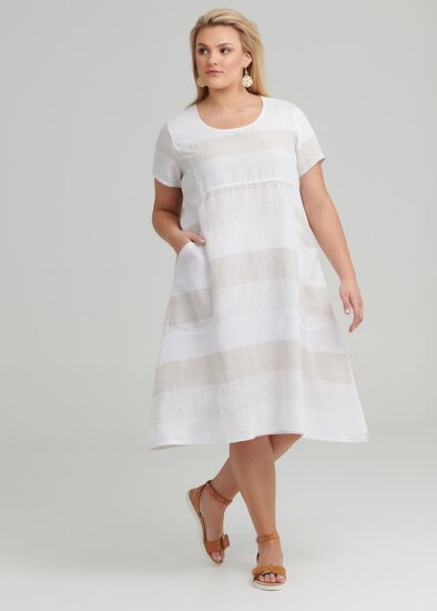 Felice Stripe Linen Dress