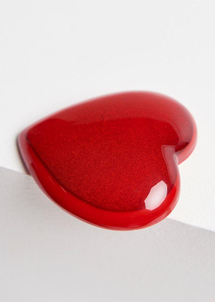 Fire Up Heart Brooch, , hi-res