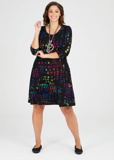 Spot On Jacquard Dress