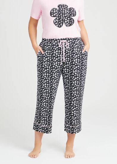 Bamboo Fleur Pyjama Crop Pant
