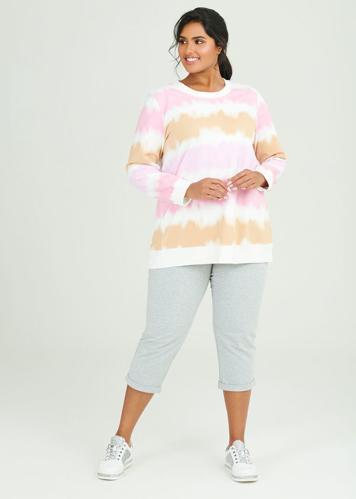 Cotton Cropped Jogger, , hi-res