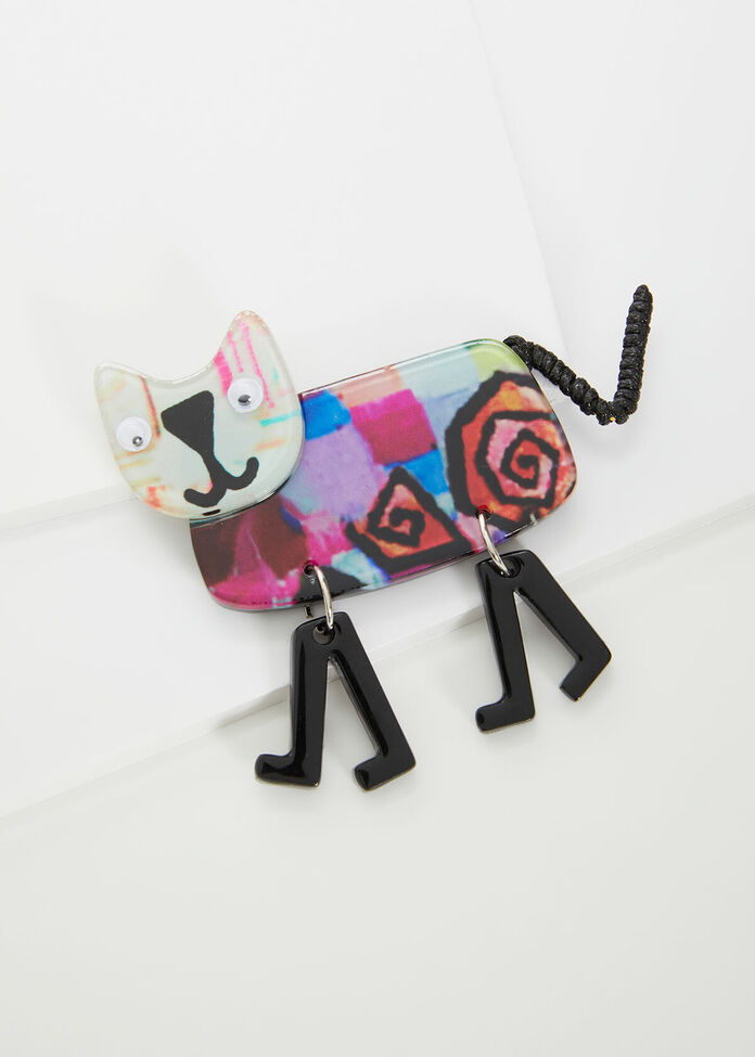 Come Back Kitty Brooch, , hi-res