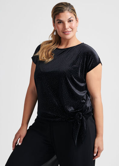 Suzana Glitter Velvet Top