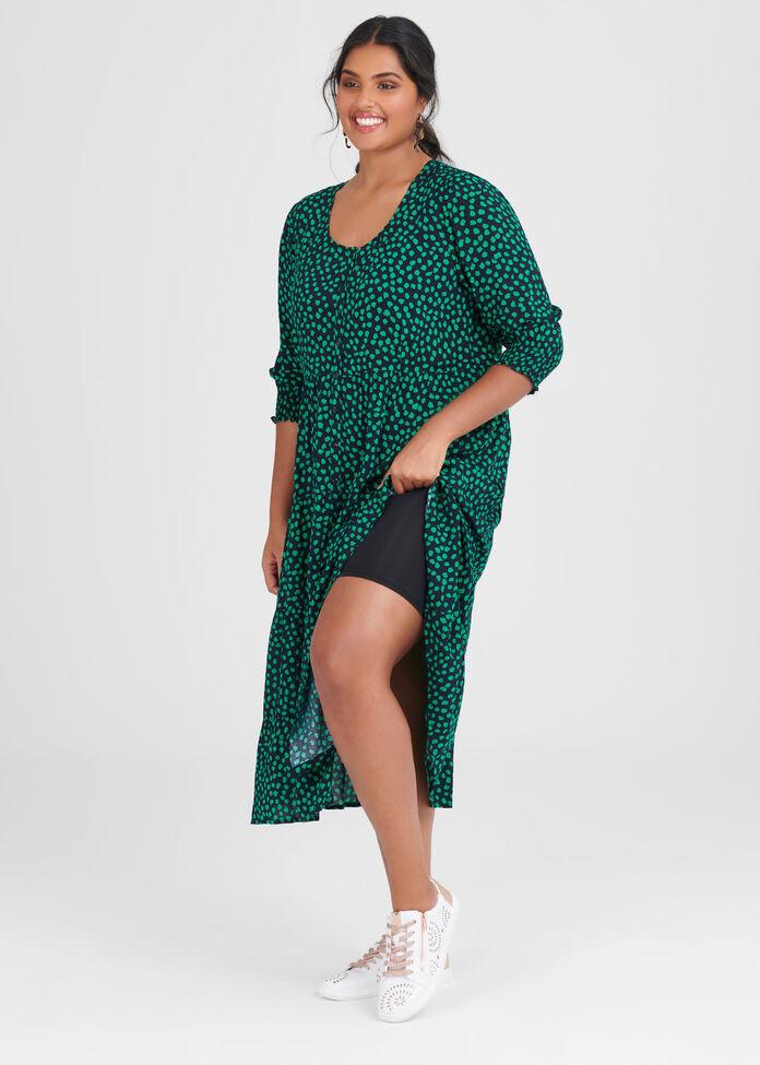 Natural Spot Shirt Dress, , hi-res