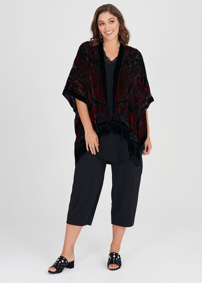 Velour Burnout Cape, , hi-res